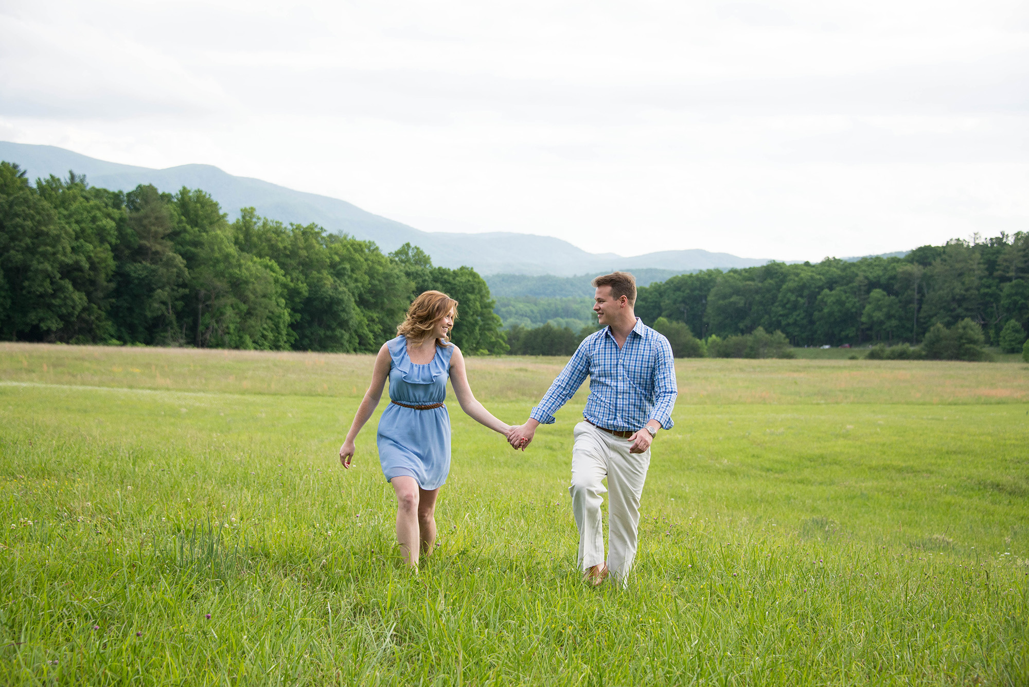 Walking Photo Cades Cove Engagement Photos
