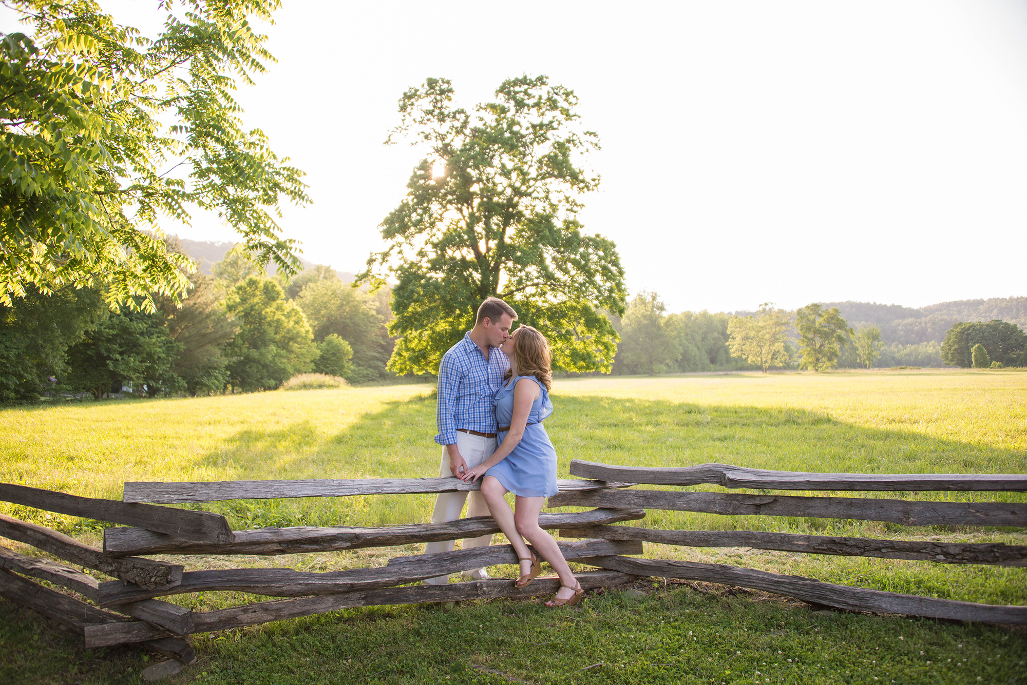 Kissing Photo Cades Cove Engagement Session